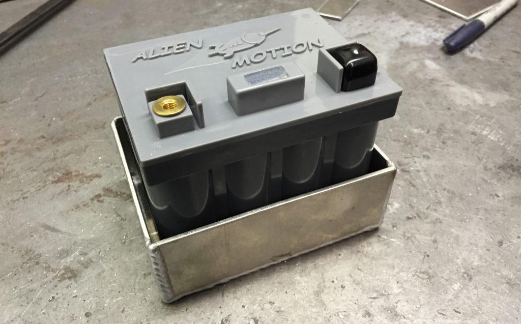 Alien Motion battery in it's custom box