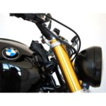 Side view of Motogadget Motoscope Pro BMW R9T on bike.